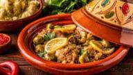tajine de poulets au citrons confits et olives