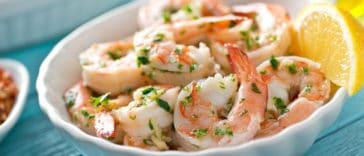 crevettes ail et persil