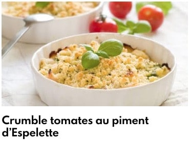 crumble tomate piment