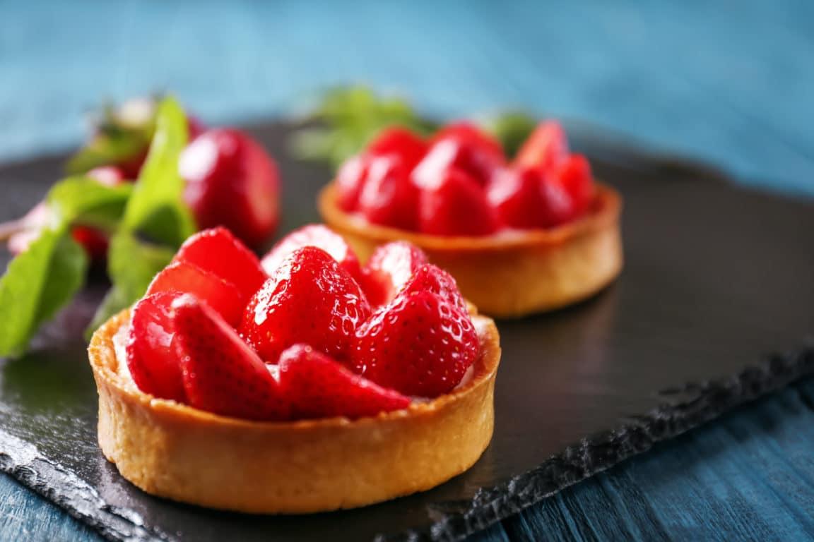 tartelettes fraises pralines roses