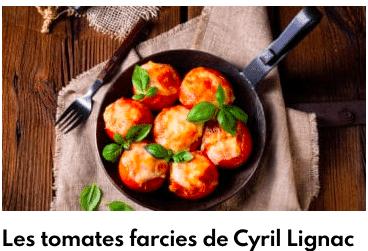 tomates farcies cyril lignac