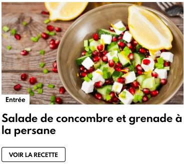 salade grenade concombre