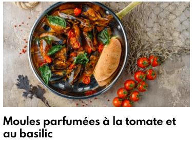 moules parfumées à la tomate