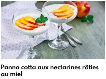panna cotta nectarines