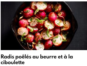 radis pôélés