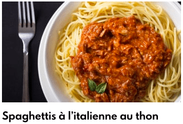 spaghettis à l'italienne