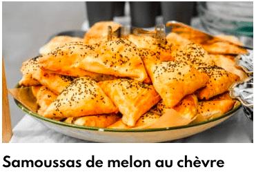samoussas melon chèvre