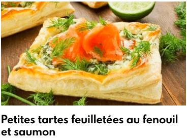 tartes feuilletées fenouil saumon