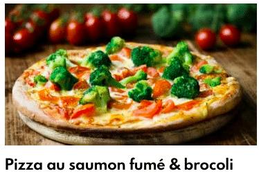 pizza brocolis saumon