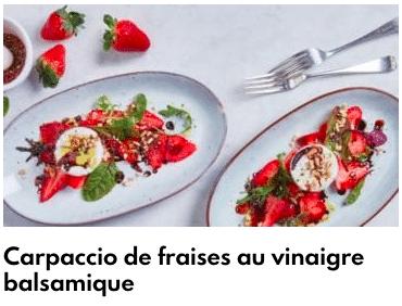carpaccio de fraise au vinaigre
