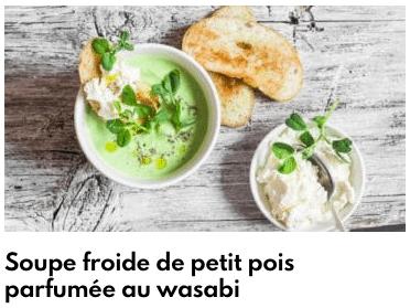 soupe froide petit pois