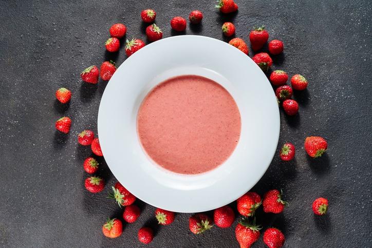 yaourt glacé aux fraises