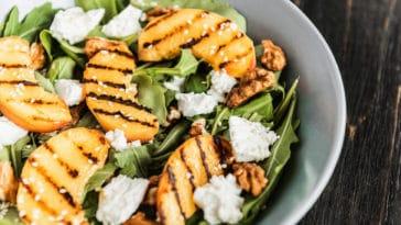 salade pêches grillées