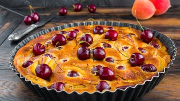 tarte abricots cerises