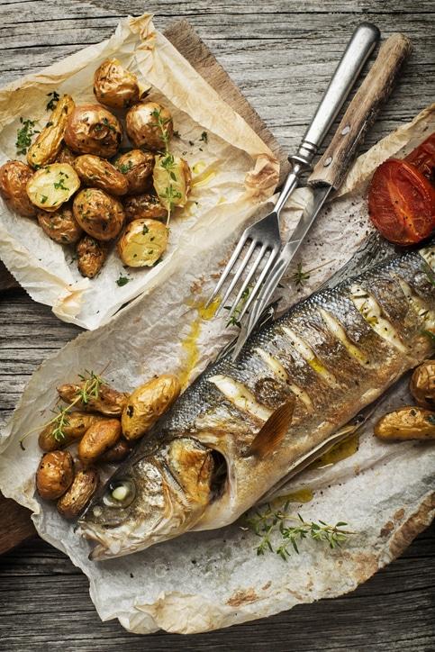 truite aux légumes sauce gimper
