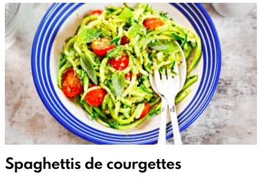 spaghettis courgette