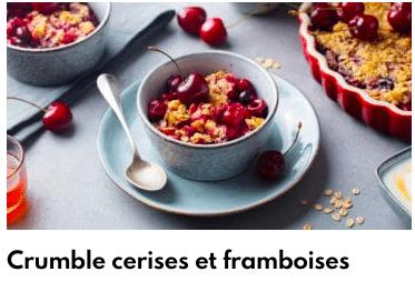 crumble cerise framboise