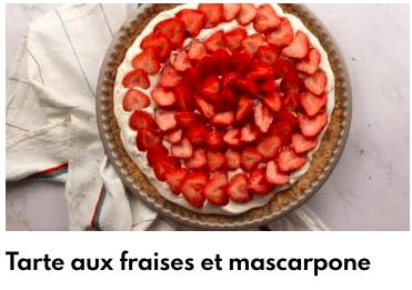 tarte fraise mascarpone