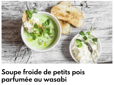 soupe froide petits pois