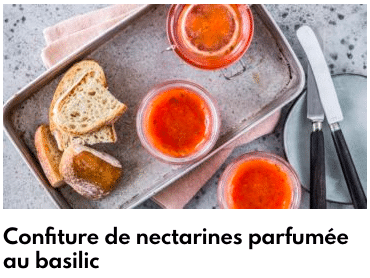 confiture nectarines basilic