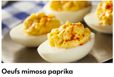 oeuf mimosa paprika