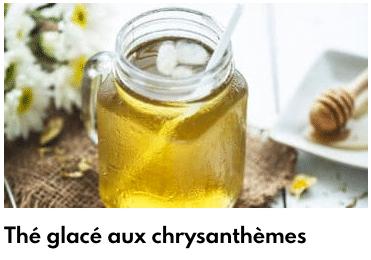 thé glacé chrysanthèmes