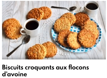 biscuits flocons d'avoine