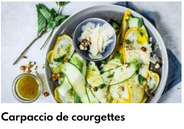carpaccio courgettes