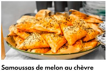 samoussas de chèvre et melon