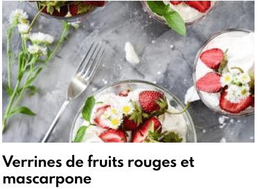 verrines fruits rouges