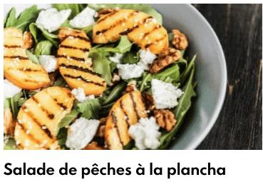 salade pêches plancha