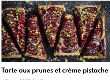 tarte prunes pistache