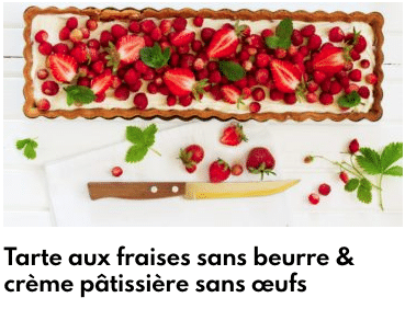 tarte fraise végétarienne