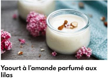 yaourt amande lilas