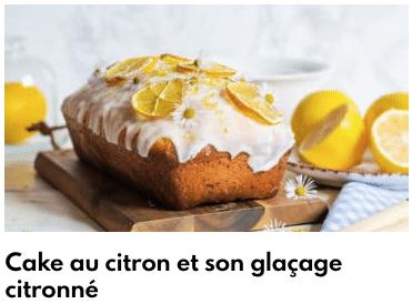cake citron glacage citronné