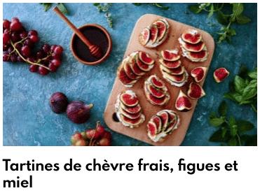 tartine chèvre frais figues et miel