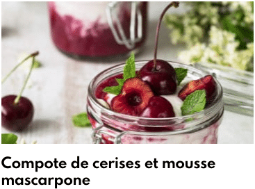 compote cerise mascarpone