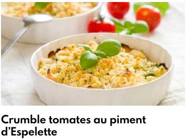 crumble tomate piment espelette
