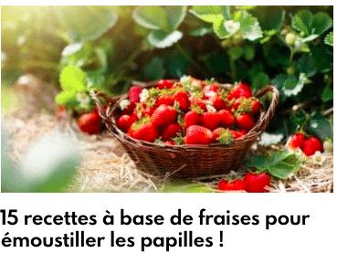 fraises recettes