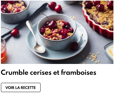 crumble cerises framboises