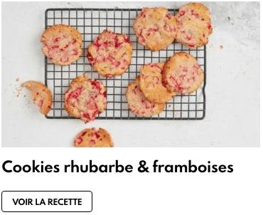 cookies frambosies rhubarbe