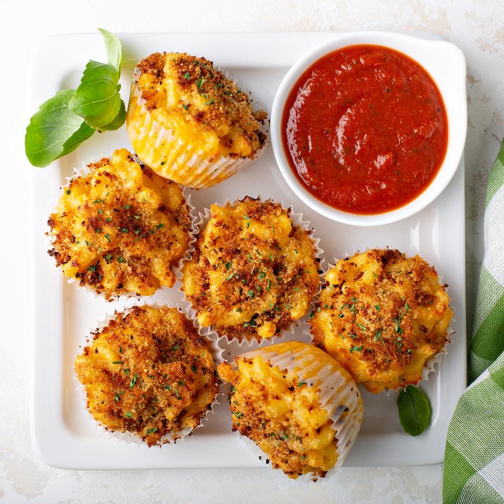 muffins mac & cheese