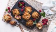 muffins framboises noisettes