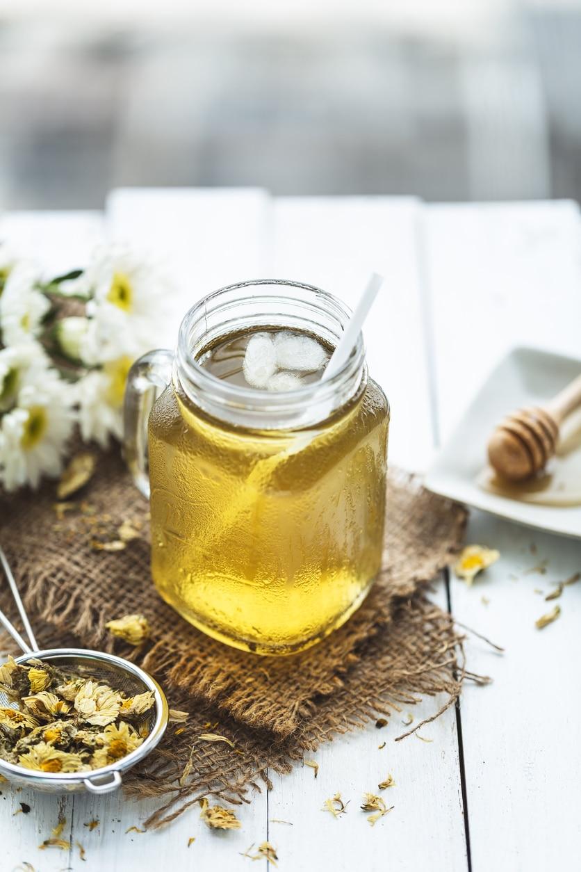 thé glacé chrysanthème