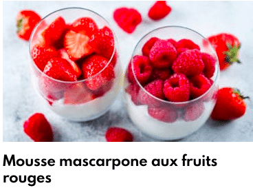 mousse fruits
