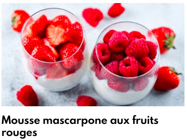 mousse fruits rouge