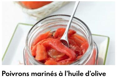 poivrons marinés à l'huile d'loive