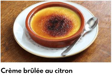 crème brulée au citron