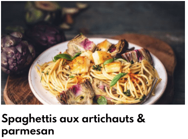 spaghettis artichauts