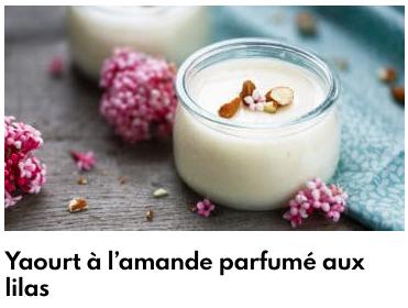 yogur de almendra lila